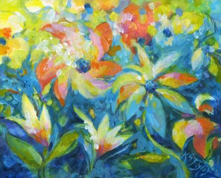 """Color of Joy"", acrylic, Karen Gillis Taylor, 2014"