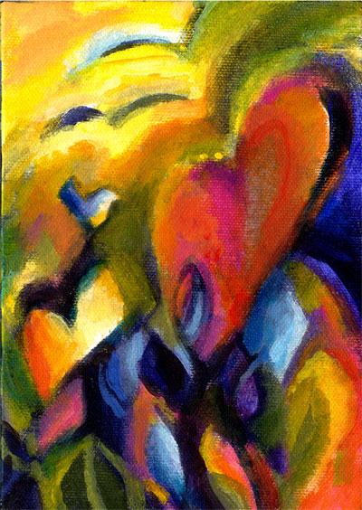 Tropical, Acrylic on canvas, KG Taylor
