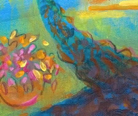 """Beth's Mexico"", detail, acrylic"