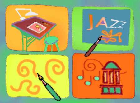 Memory Game Illustration, Photoshop, KG Taylor. Click for big view!
