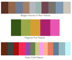 My 3 new color palette collections, August 2014, KGT