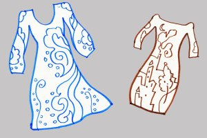 Drawing dresses for fun, KGT