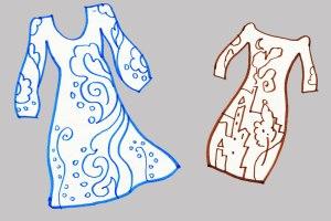 Drawing dresses for fun, KGT