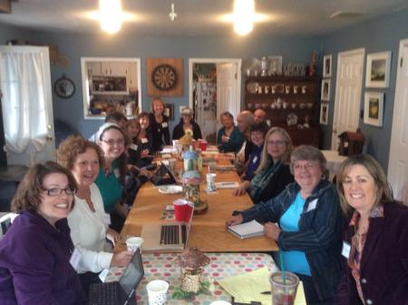 Meeting of Art Licensing Group, at sister Leslie Clark's home