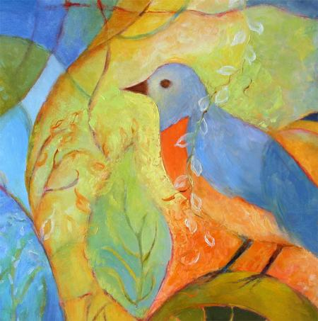 Bird painting detail