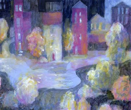 """""""Riverside Town"""", detail"""