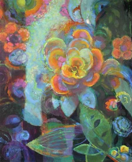 """Into the Light"", acrylic on canvas, 24 x 30"", Karen Gillis Taylor, 2014"