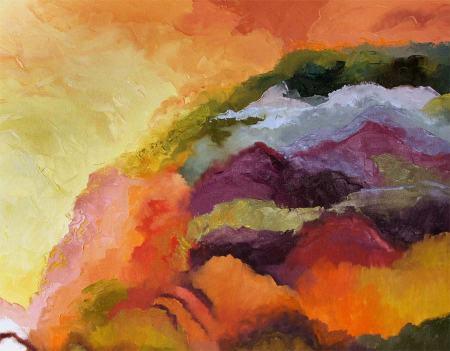 """""""September in New Mexico"""", Oil, 30 x 36"""", Karen Gillis Taylor, 2014"""