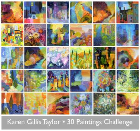 Thirty Days of Painting, Karen Gillis Taylor, 2014 Challenge Event