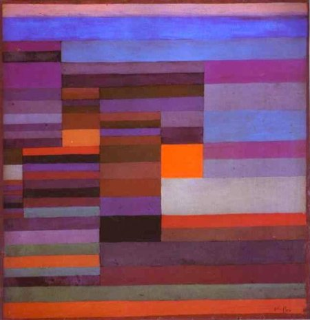 """Fire in the Evening 1929"", Paul Klee, oil, 37 x 36 cm."