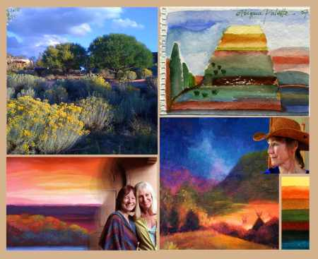 Collage of my color and friendship inspirations from our American West. December 2014. KGT