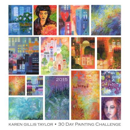 Favorite picks from January 2015 Painting Challenge, Karen Gillis Taylor art