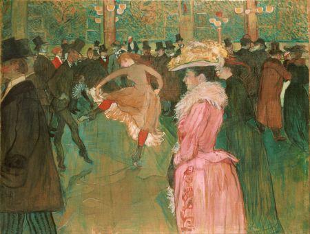 """At the Moulin Rouge, the Dance, Henri de Toulous Lautrec. 1890, Oil on canvas, 45 x 59"""""""