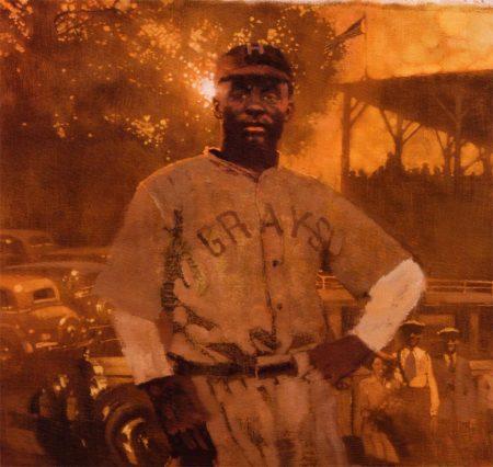 """""""Oscar Charleston"""", 26 x 20"""", Bernie Fuchs, for Sports Illustrated, 2005"""