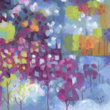"Paris colors theme, detail from 5 x 7"" acrylic on acrylic paper, Karen Gillis Taylor"
