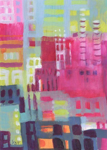 "Paris Color 3, 5 x 7"", acrylic by Karen Gillis Taylor"
