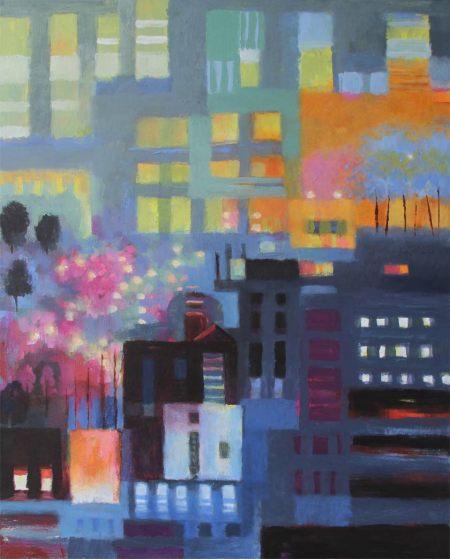"""""""Paris One"""", 24 x 30"""", acrylic, Karen Gillis Taylor"""