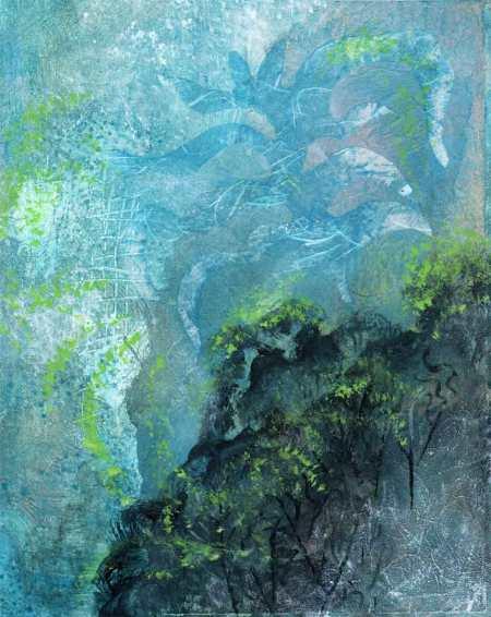 """""""Underwater Garden 2"""", 8 x 10"""" acrylic, Karen Gillis Taylor"""