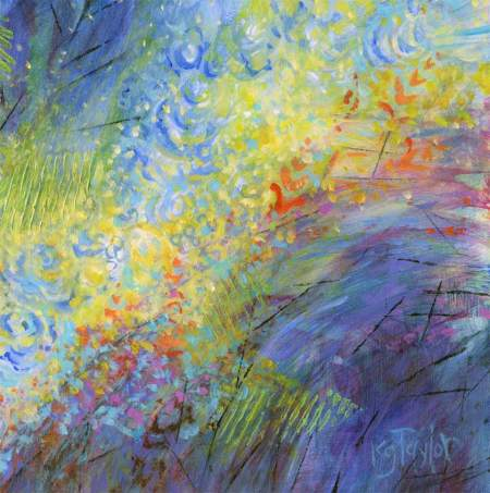 """Underwater Garden, acrylic, 12 x 16"""", Karen Gillis Taylor"""