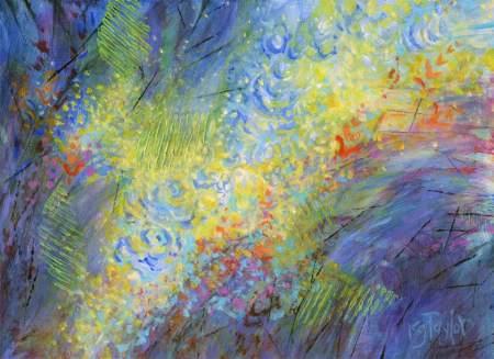 """Underwater Garden, 12 x 16"""" acrylic, Karen Gillis Taylor"""