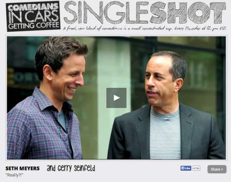 Comedians in Cars Getting Coffee photo, great show to listen to in the studio, btw.