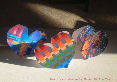 Ideas for making your own heart cards, KGT