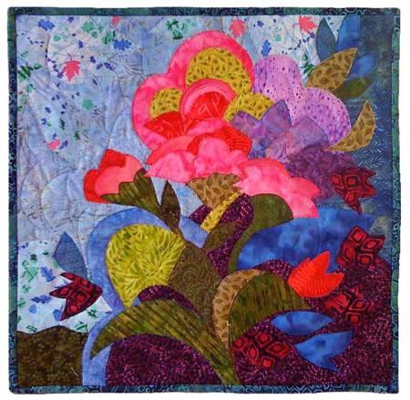 """June Blooms"" art quilt, Karen Gillis Taylor"