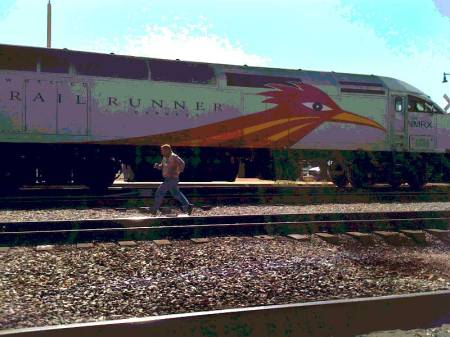 """Rail Runner"", photo, KGT, Santa Fe, New Mexico"