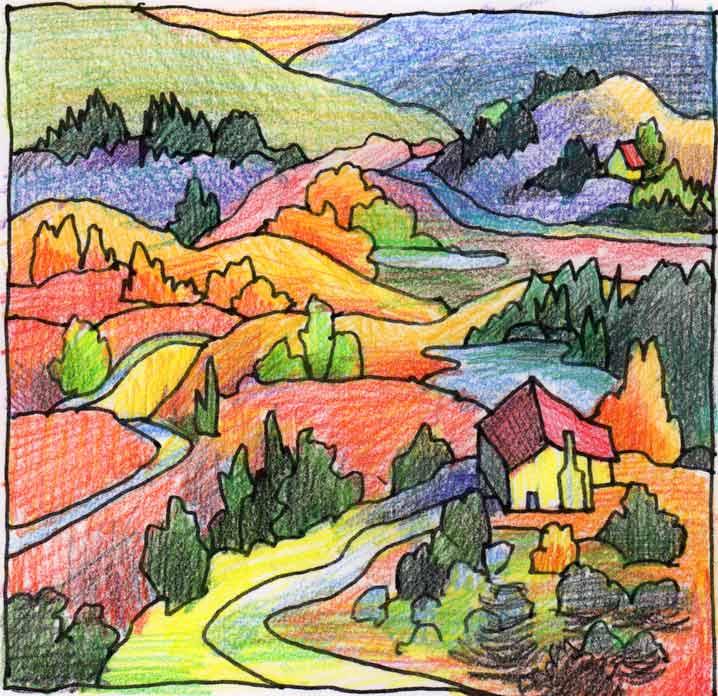 mountain valley color hue bliss color art notes by karen gillis