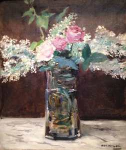 Manet floral in oil