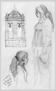 Various sketches, various sketchbooks, KGT