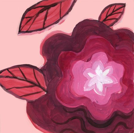 Radiant Flower lesson, acrylic, Creative Color with Acrylics class, coming soon, KGTaylor