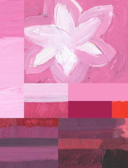 tints and shades of red-violet