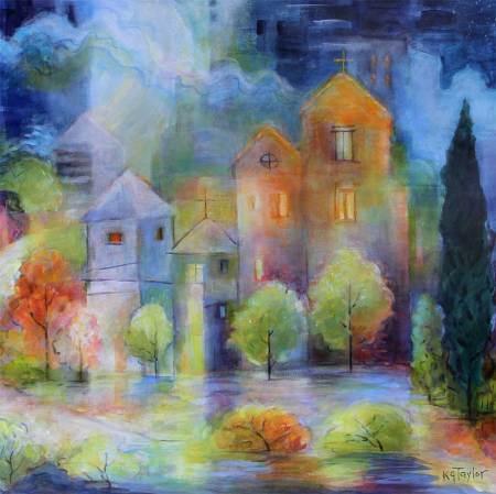 """Enchanted"" -detail, OIl on panel, 24"" x 18"". See karengillistaylor.net"