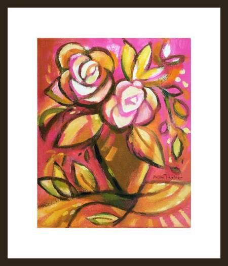 Pink-abstract-floral-2-framed